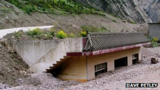 A landslide in China's Sichuan province