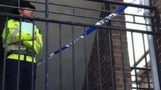 Policewoman at scene
