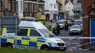 Police cordon in Folkestone