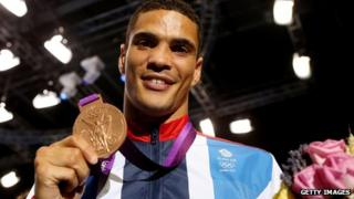Anthony Ogogo with his Olympic bronze medal