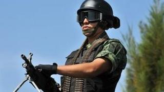 Mexican soldier on patrol in Morelos - file