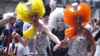 Drag queens at Brighton Pride 2010