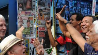 News stand in Brazil