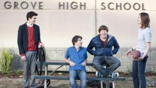 The cast of the US version of The Inbetweeners