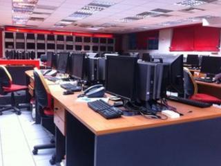 Empty desks in Alter office