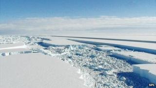 Ice-shelf break-up