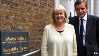 David Jones with Cheryl Gillan