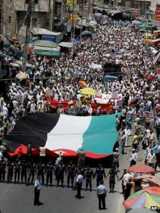 Muslim Brotherhood protest in Amman (13 July 2012)