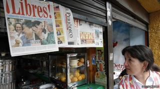 News stand in Colombia