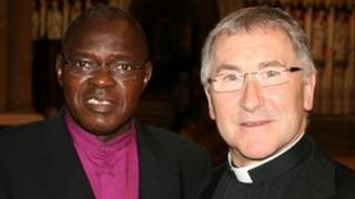 The Archbishop of York, left, with the Rev Canon Glyn Webster