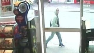 CCTV images of a man police want to question