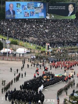 Meles Zenawi's coffin arrives in Meskel Square - 2 September