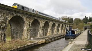 Chirk aqueduct and viaduct