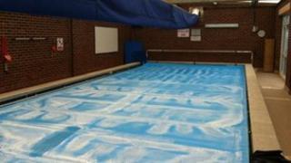 Pool at Cooper and Jordan C of E school in Aldridge