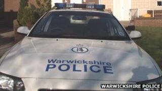 Police car at Leek Wootton - generic image