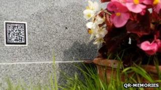 QR code on gravestone