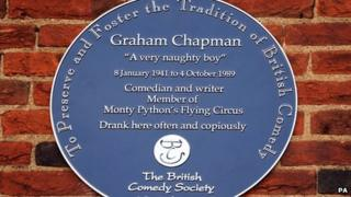 Graham Chapman's plaque
