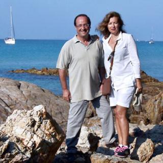 Francis Hollande and Valerie Trierweiler