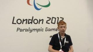 Young Paralympic reporter in the IBC