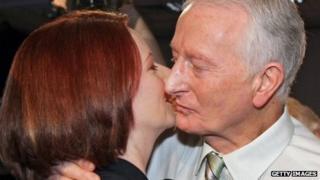 John Gillard and his daughter Julia