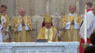 Archbishop Tartaglia was presented with the Crozier of St Mungo