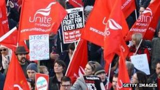 Public sector workers rally