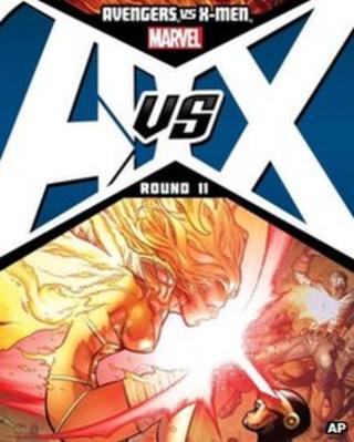 Cover shot of Avengers vs X-Men
