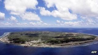 File image from 2001 of the island of Nauru