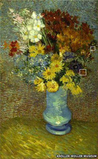 Van Gogh's Flowers in a Blue Vase