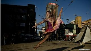 Michaela DePrince dancing on the streets of South Africa