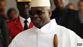 Yahya Jammeh photographed in July 2012