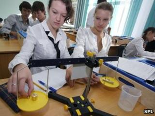 Girls physics lesson