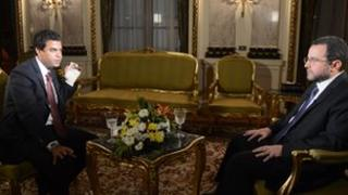 BBC Arabic's Khaled Ezz El-Arab interviews Egypt's Prime Minister Hisham Qandil