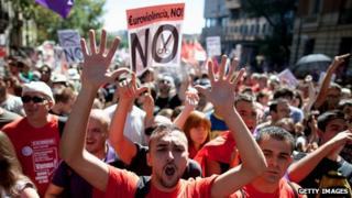 Spanish anti-austerity protest