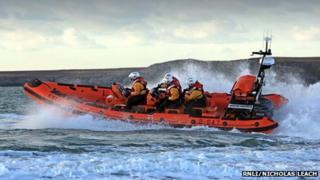 Trearddur Bay RNLI Atlantic 85 Lifeboat Hereford Endeavour