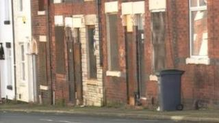 Derelict council houses in Stoke on Trent