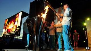 Cauldron is lit in Stoke Mandeville for the Paralympics