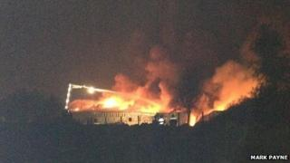 Real Crisps factory on fire - image Mark Payne