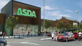 Artist's impression of the Asda store in Norwich