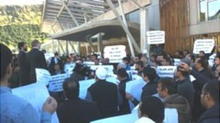 Protest at the Scottish Parliament