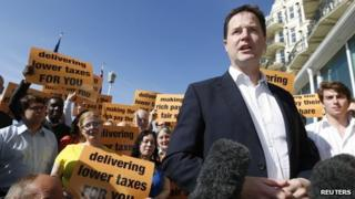 Nick Clegg in Brighton