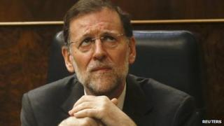 Spanish Prime Minister Mariano Rajoy in parliament in Madrid (12 Sept 2012)