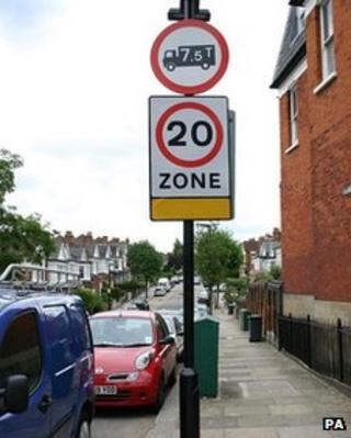 20mph residential road