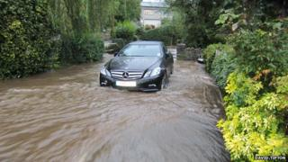 Flooding in Winford