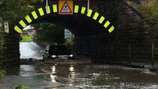 Flooding on the outskirts of Carlisle