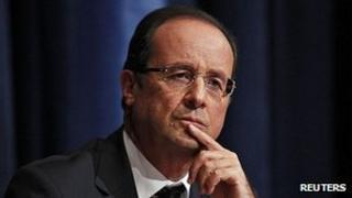 President Francois Hollande - file pic