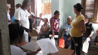 A local housing office in Havana