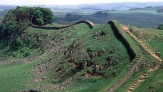 Hadrian's Wall in Northumberland