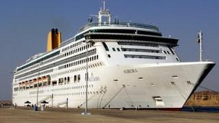 File photo dated December 2007 of the P&O cruise liner Aurora in Southampton Docks, Hampshire