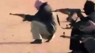 Jihadis holding guns, file pic
